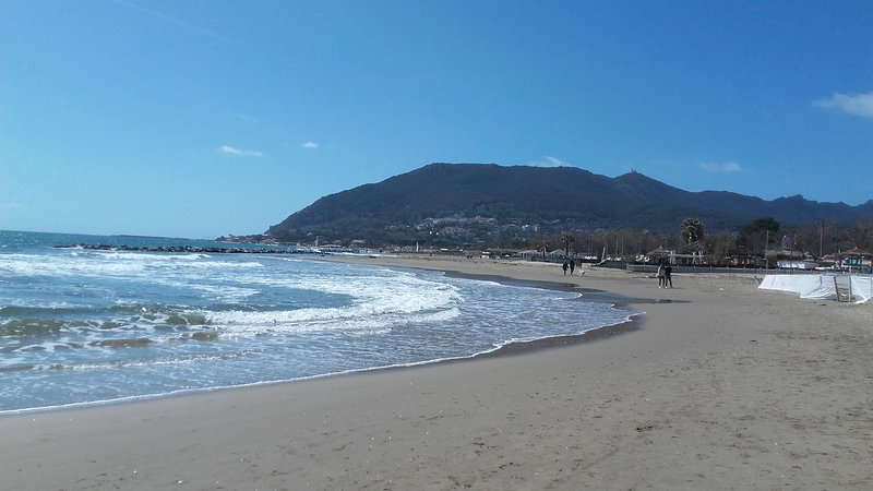 San Felice Circeo beach and promontory view