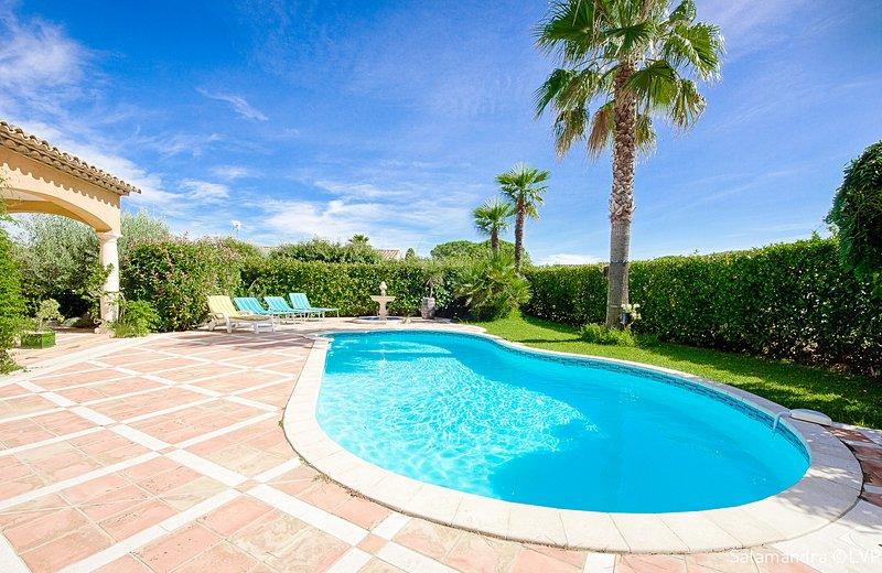 PISCINE PRIVEE AVEC POOL HOUSE STANDING 'l'olive bleue cogolin', vacation rental in Cogolin