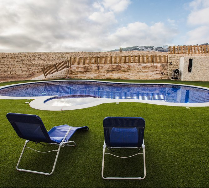 Communal swimming pool and BBQ area