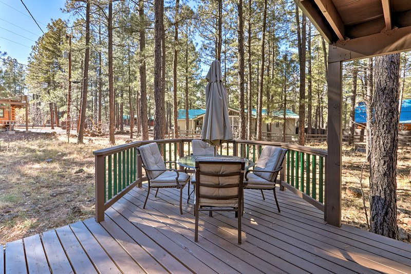 Your group of up to 8 guests will enjoy the outdoor space.