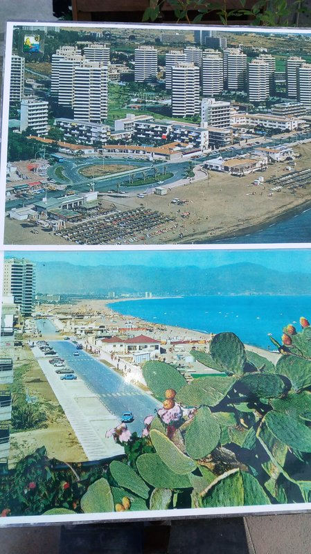 The beach bajodillo and promenade good environments in Torremolinos