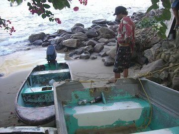 The  fishing boats  are right out your door practically