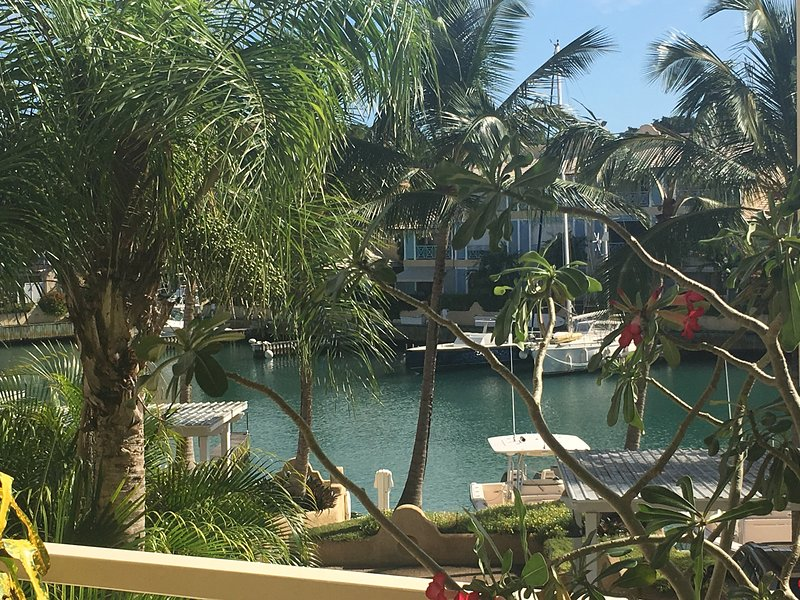 View from the Parrot Room of the pretty Marina