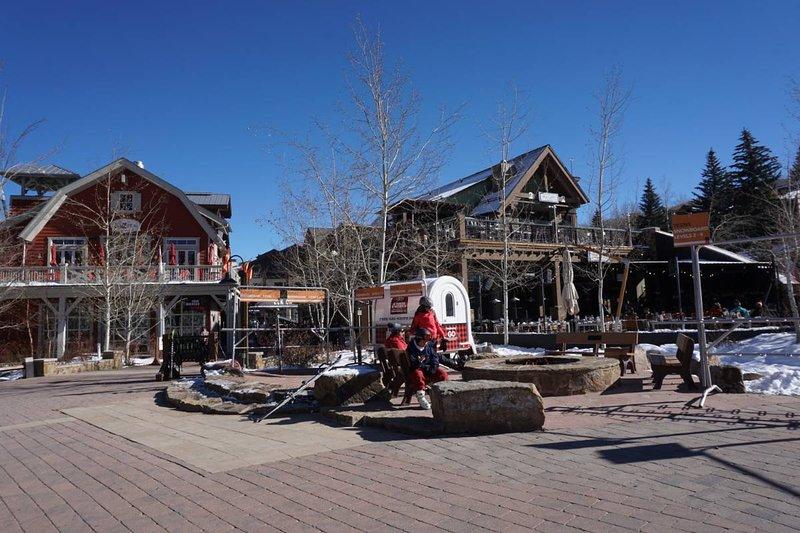 Base Village with restaurants, shops, bars