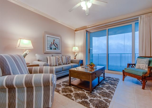 Living Room with view of the Gulf