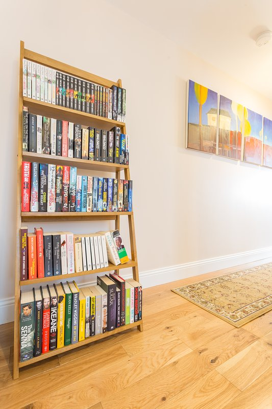 Varied Library For Guests Use During Their Stay