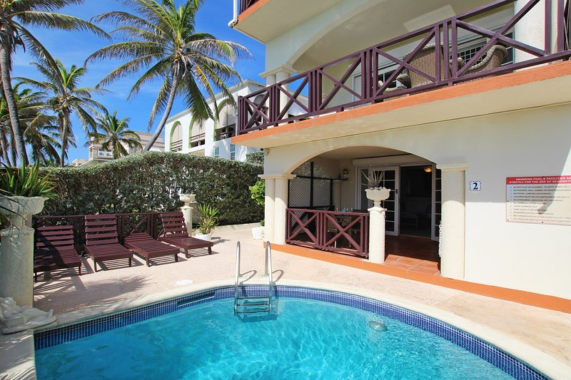 Rosalie #2 is the ideal oceanfront holiday apartment just steps from the pool