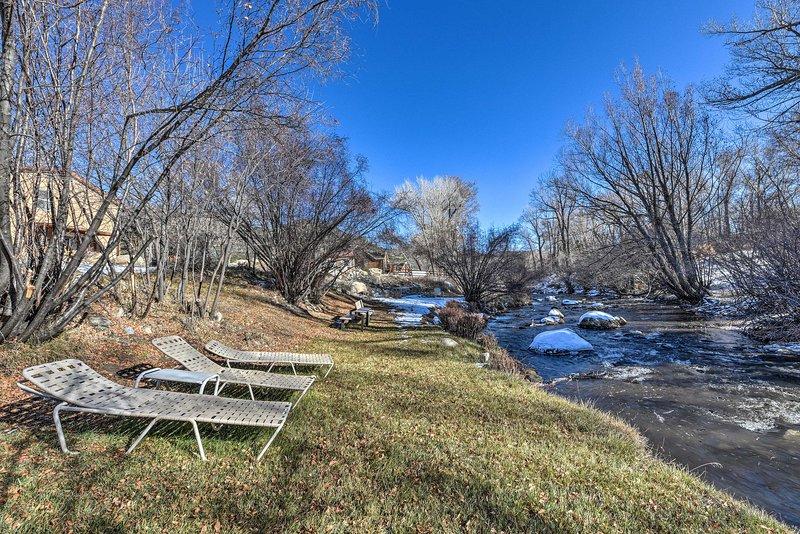 Buena Vista Creekside Home w/Private Hot Tub!, holiday rental in Johnson Village