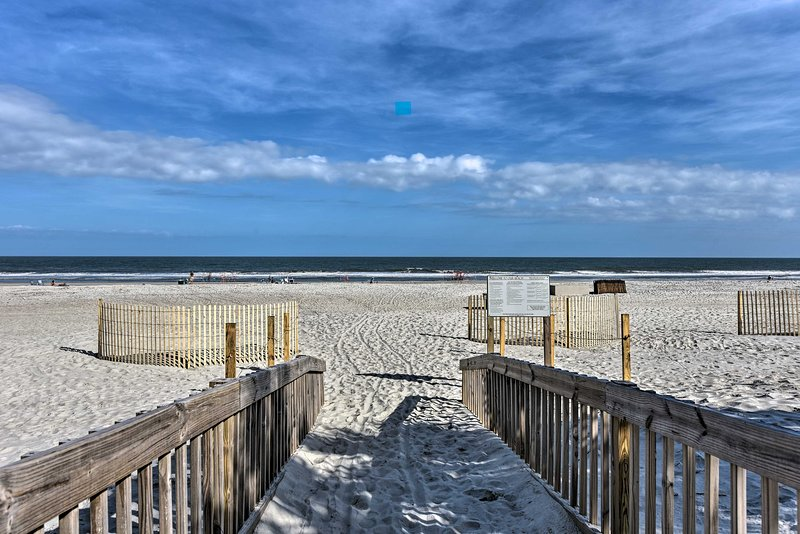 This vacation rental provides guests direct beach access to 12 miles of sand!