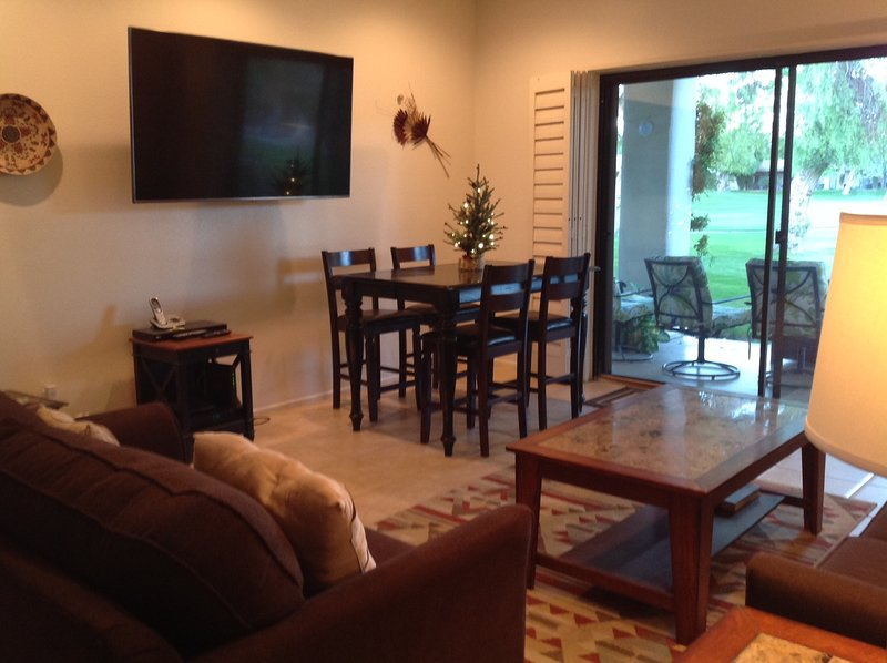 65' new TV & Dining Area