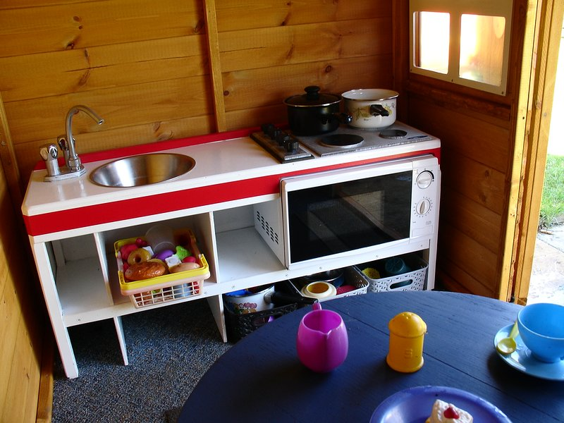 The Wendy House has its own kitchen where children love making a cup of tea for their new friends.