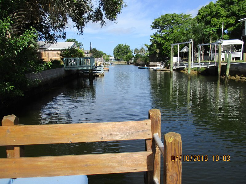 west view from floating dock