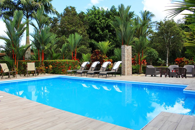 One of the best features of the house is the pool and surrounding lounge areas.