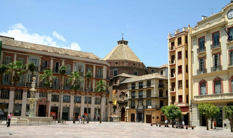 Main square of Malaga, call of the Constitution