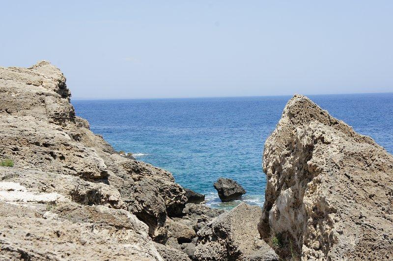 Nearby rocky seashore