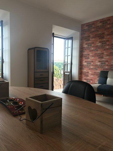 Vista Mondego , apartamento T1 com vista panorâmica sobre o rio Mondego – semesterbostad i Coimbra