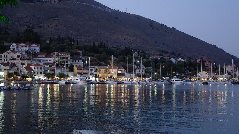 The colourful Agia Efimia by night.