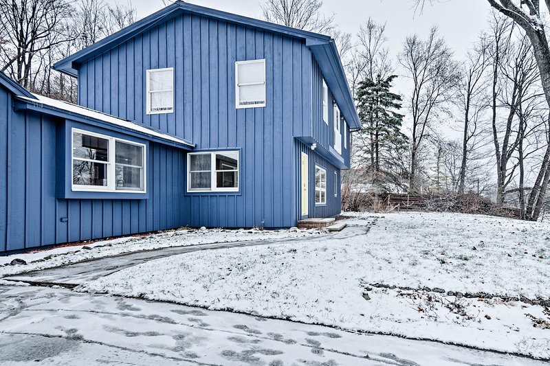 This charming home is a short walk from Grand Traverse Bay!