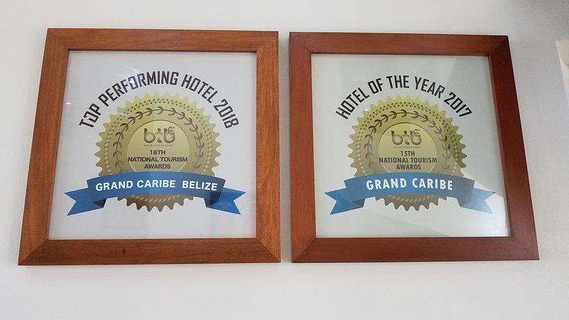 Prestigious awards from the Belize Tourism Board.