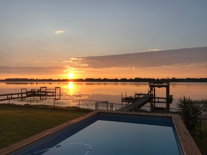 NEW! Lakefront Vacation Home with Pool & Boatdock! UPDATED 2019