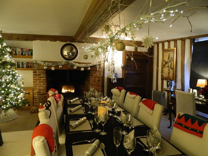 MERRY CHRISTMAS The dining room at Abbey Farm.
