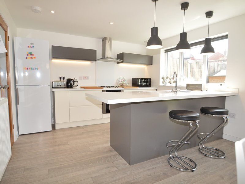 Open plan kitchen,lounge and dining area