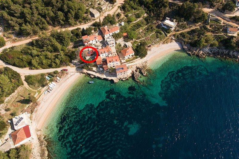 One bedroom house Cove Tvrdni Dolac, Hvar (K-13018), holiday rental in Gdinj