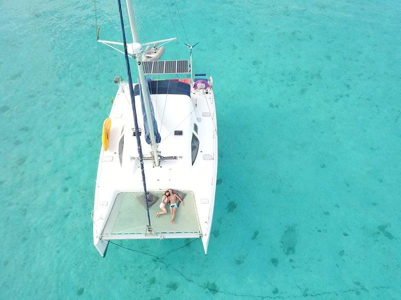 Croisière catamaran en Polynésie, alquiler de vacaciones en Bora Bora
