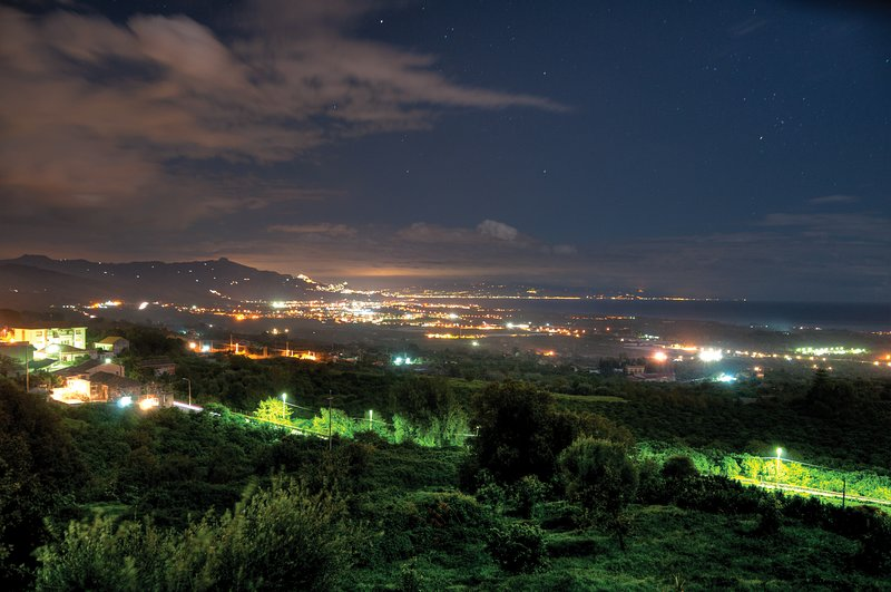 Late night stunning view on ionic coast from Villa Trinacria - SunTripSicily