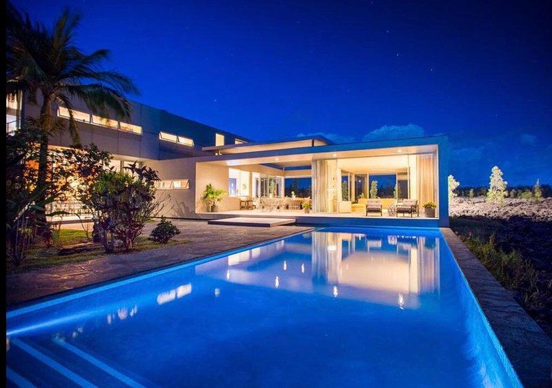 Lavafluss Haus und Pool