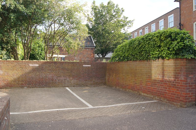 single parking space outside the property
