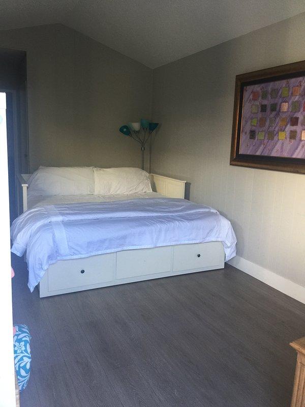Il letto può essere configurato come un re o due gemelli affiancati