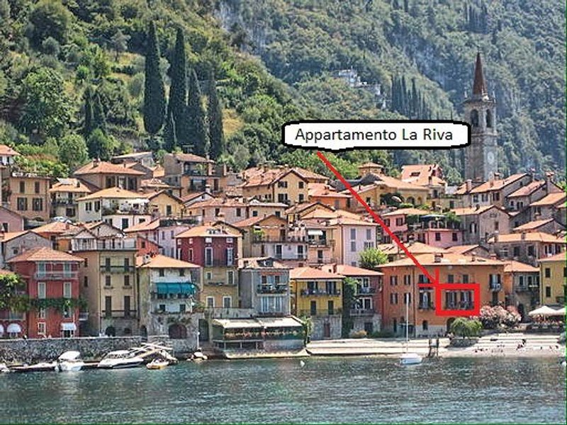 View of the Riva Grande of Varenna