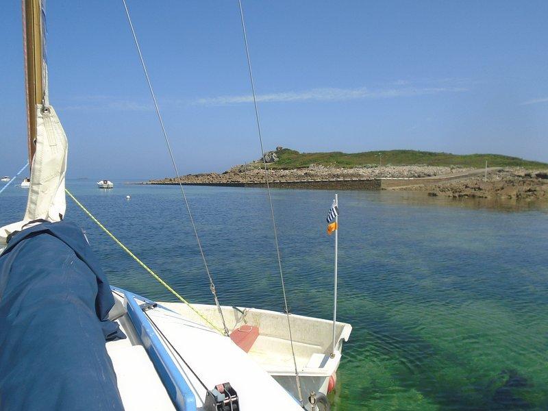 Unser Segelboot im Hafen