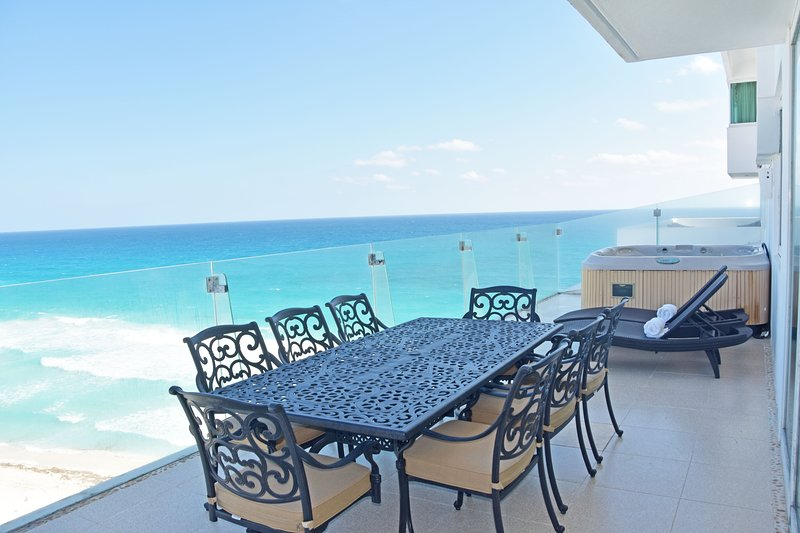 by Tim M - Penthouse #3703 - Stunning views from the Big Hot Tub on the Terrace, vacation rental in Cancun