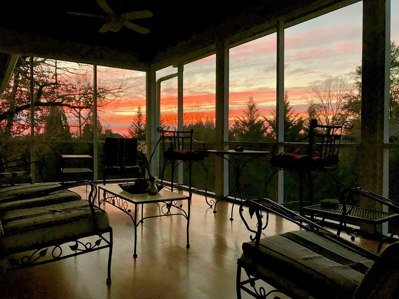 Trees all around—enjoy expansive sky views from north ATL's highest elevation.