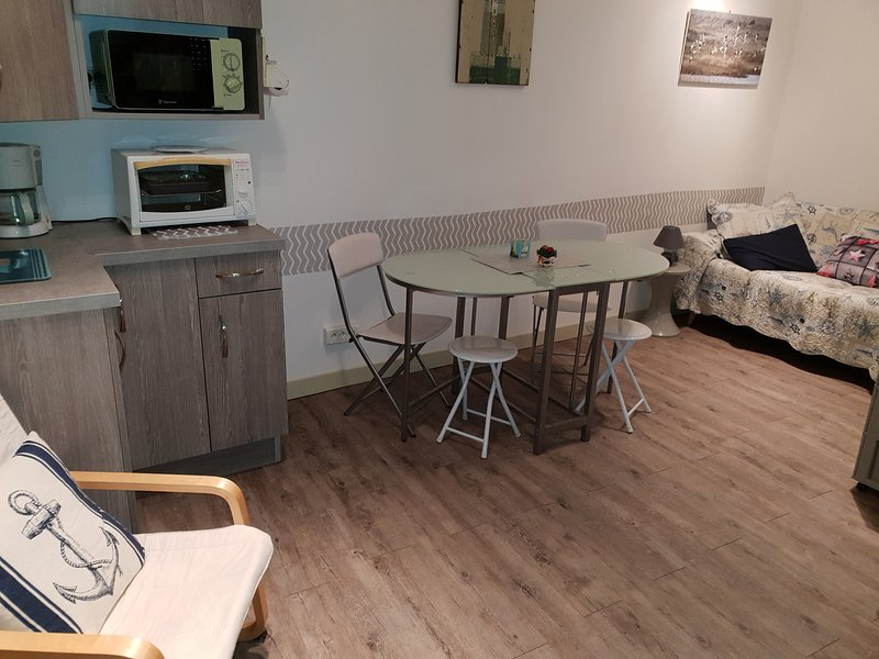 Beautiful studio with sea view, holiday rental in Saint-Quentin-la-Motte-Croix-au-Bailly