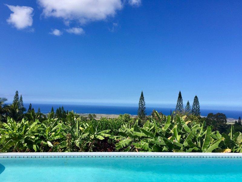 Private Luxury Retreat | Expansive Ocean Views | Pool | Huge Lanai & Garden, holiday rental in Kalaoa