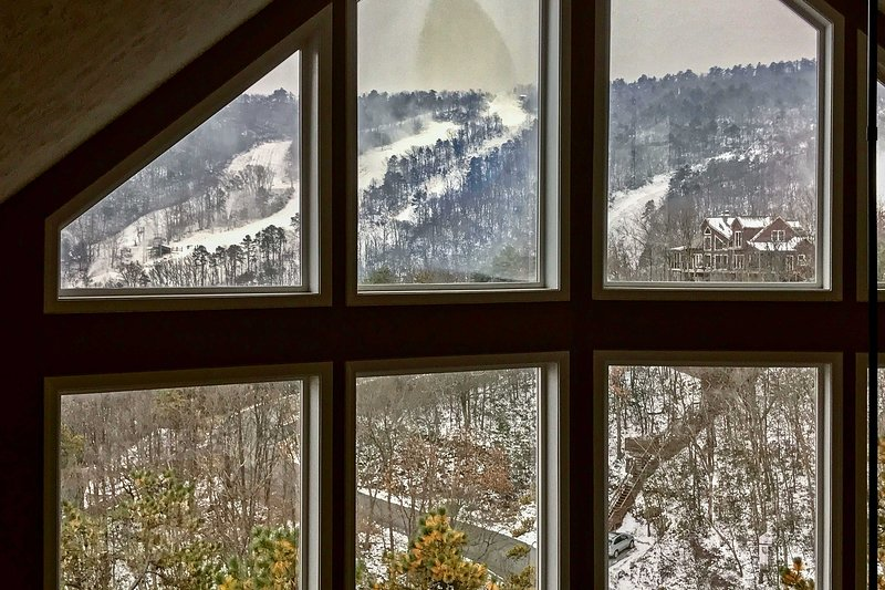 The views are wonderful throughout the home!