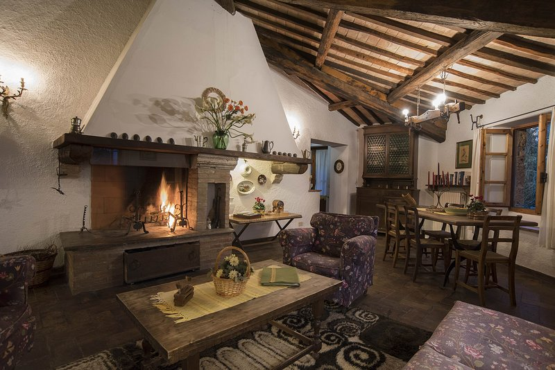 medieval castle experience,pool,restaurant, quiet, medieval museum,Wi-Fi,autunno, vacation rental in Trevinano
