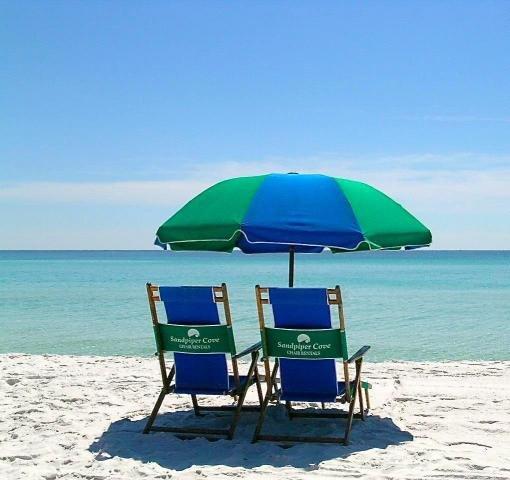 Paradise found on Sandpiper Cove's Private Beach.