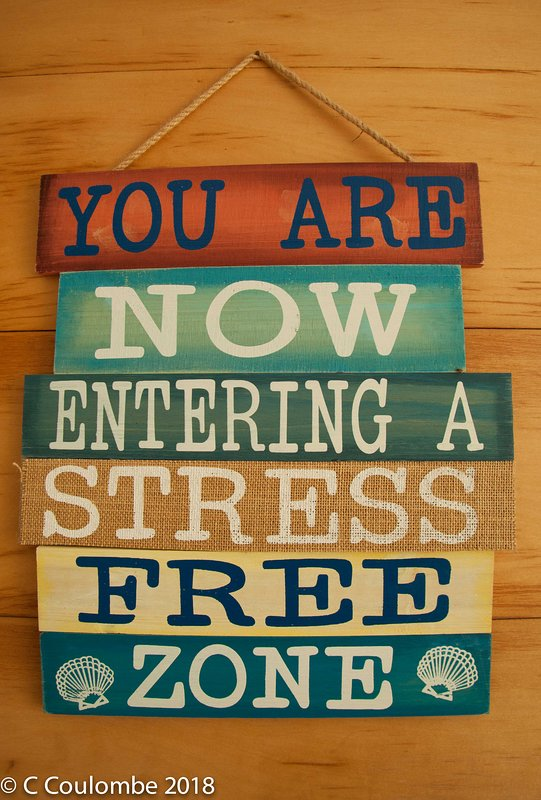Leave all your stress at the door.