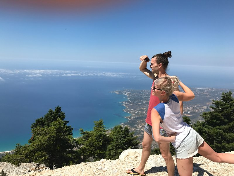At the top of the island: hiking to the mountain Ainos