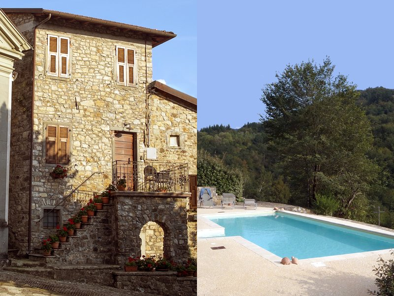 Historic villa, private pool & gardens, outdoor kitchen/dining, wifi, in village, holiday rental in Tavernelle