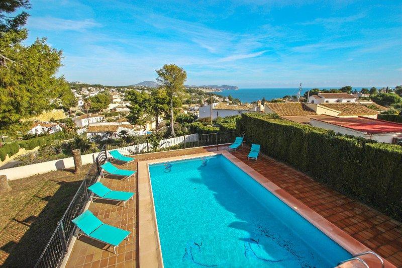 La Boniquessa-6 - sea view villa with private pool in Benissa, vacation rental in La Llobella