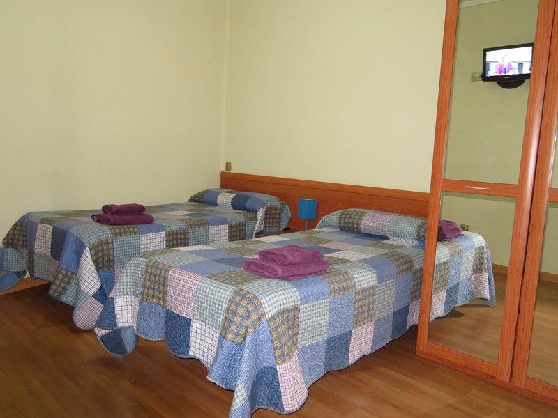 Habitación 2 camas, t.v.