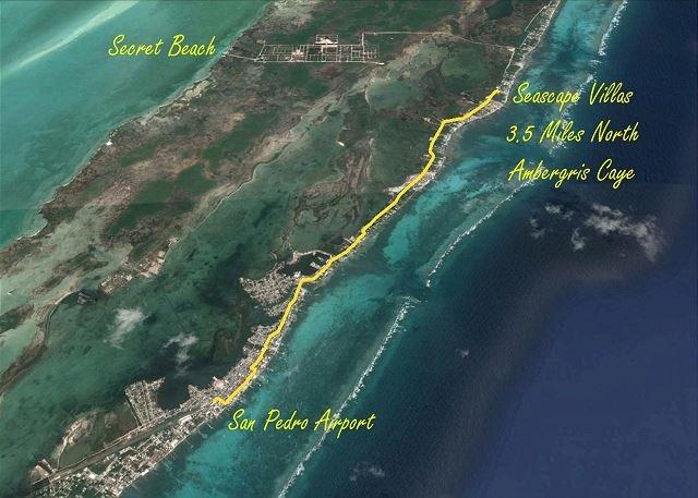Mappa di Seascape Villas