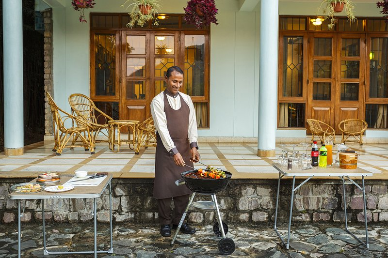 Enjoy delicious BBQ snacks prepared by our in-house cook