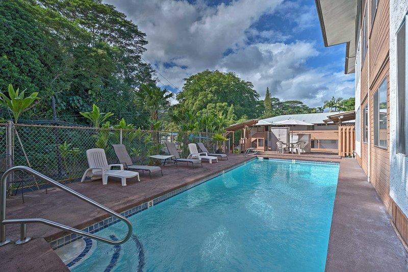 Este alquiler de vacaciones en Wainaku Terrace se encuentra a pocos pasos de la piscina comunitaria.