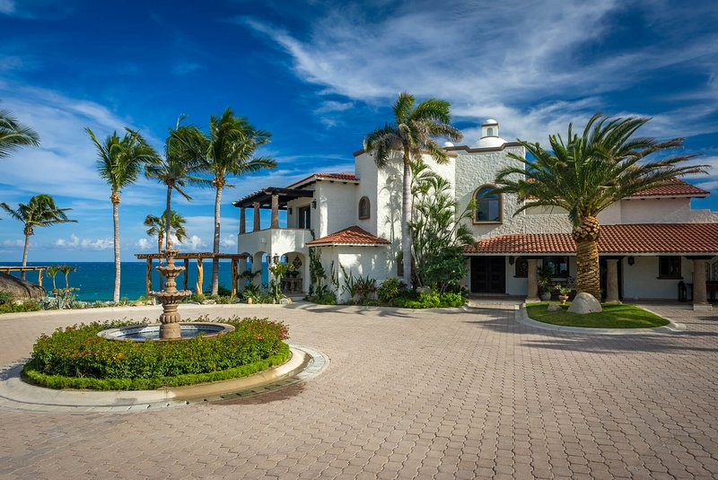 Be mesmerized by the tall palm trees that you'll be greeted by when you arrive at Casa Bellamar!